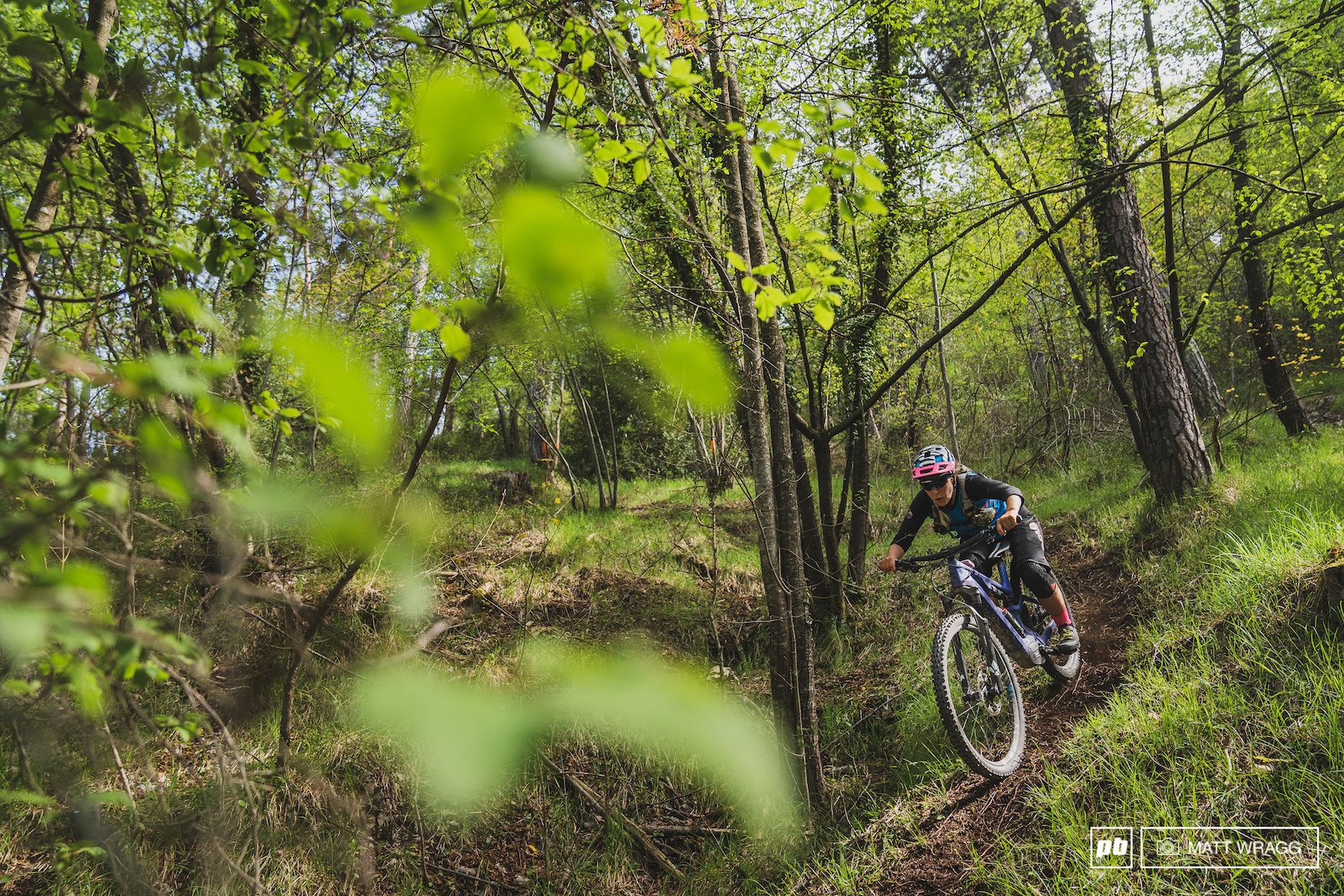 Serpentin is very different to almost every other trail in the valley - it is one of the very few that was shaped with bikes in mind.