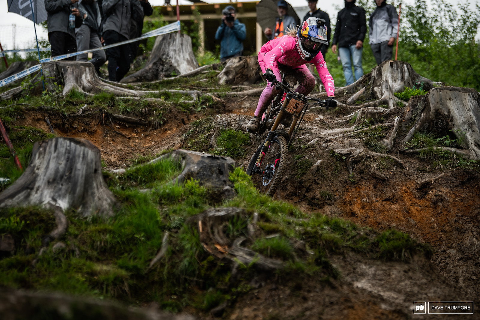 Tahnee Seagrave through he sticky mud during the timed runs