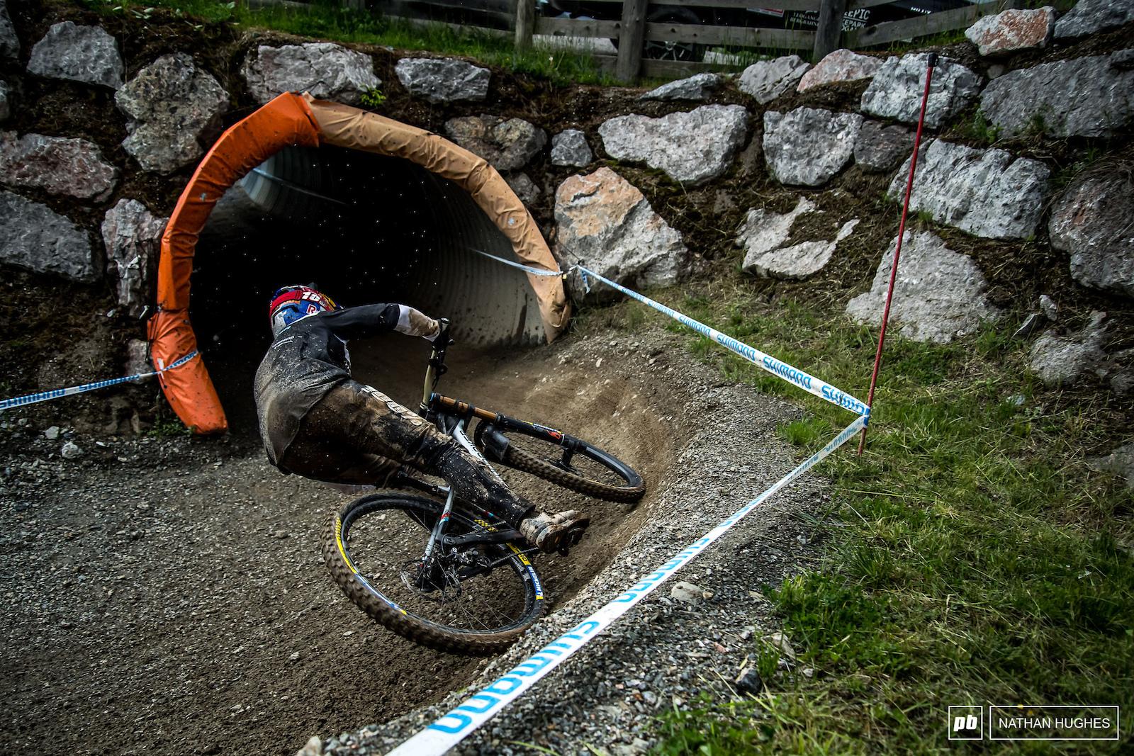 The Bulldog powering through mid-track tunnels.