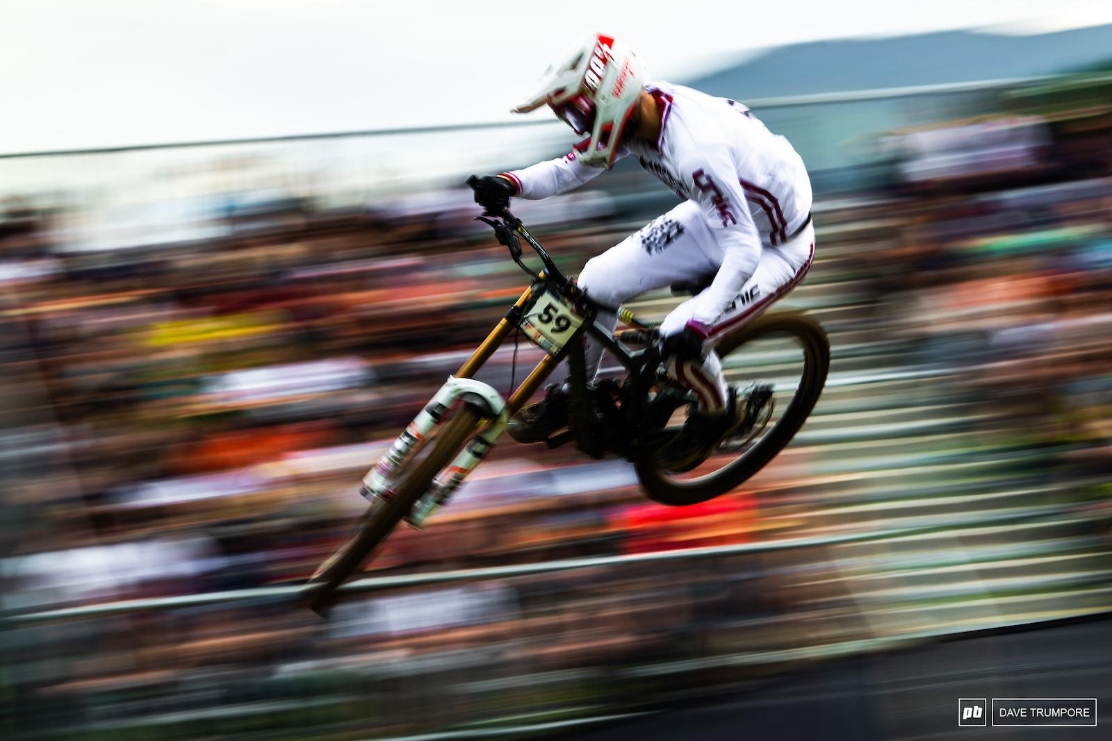 Matteo Iniguez off the final jump