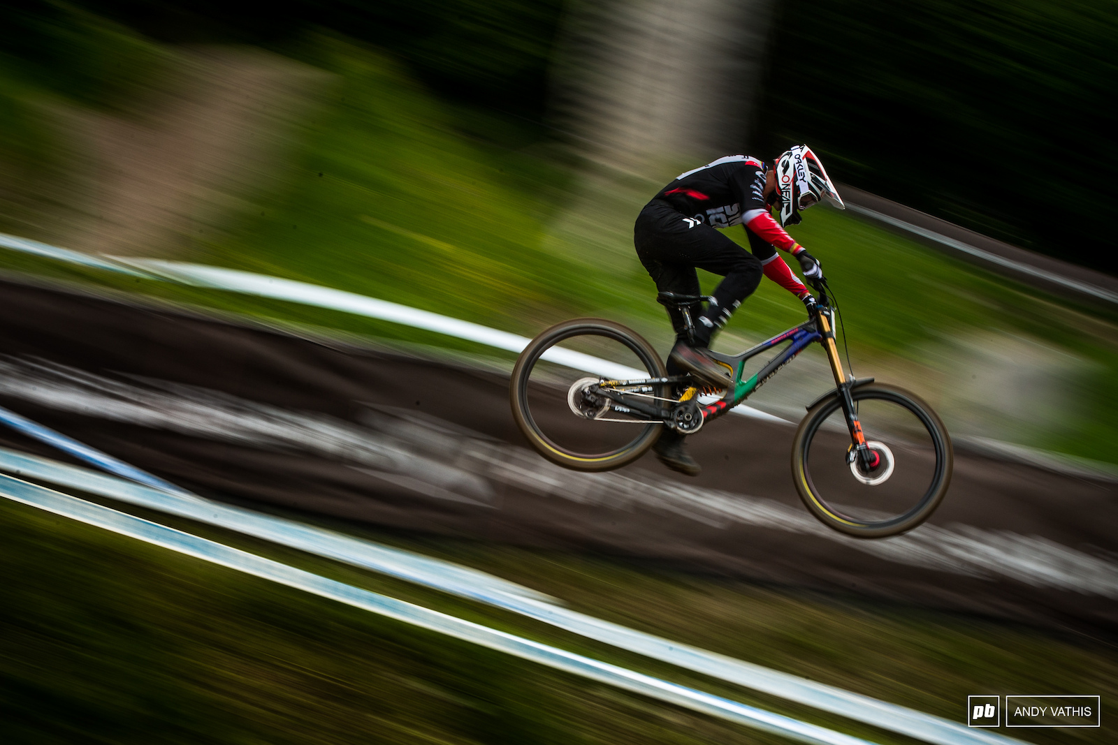 Greg Minnaar putting in pedal strokes wherever he could fit them.