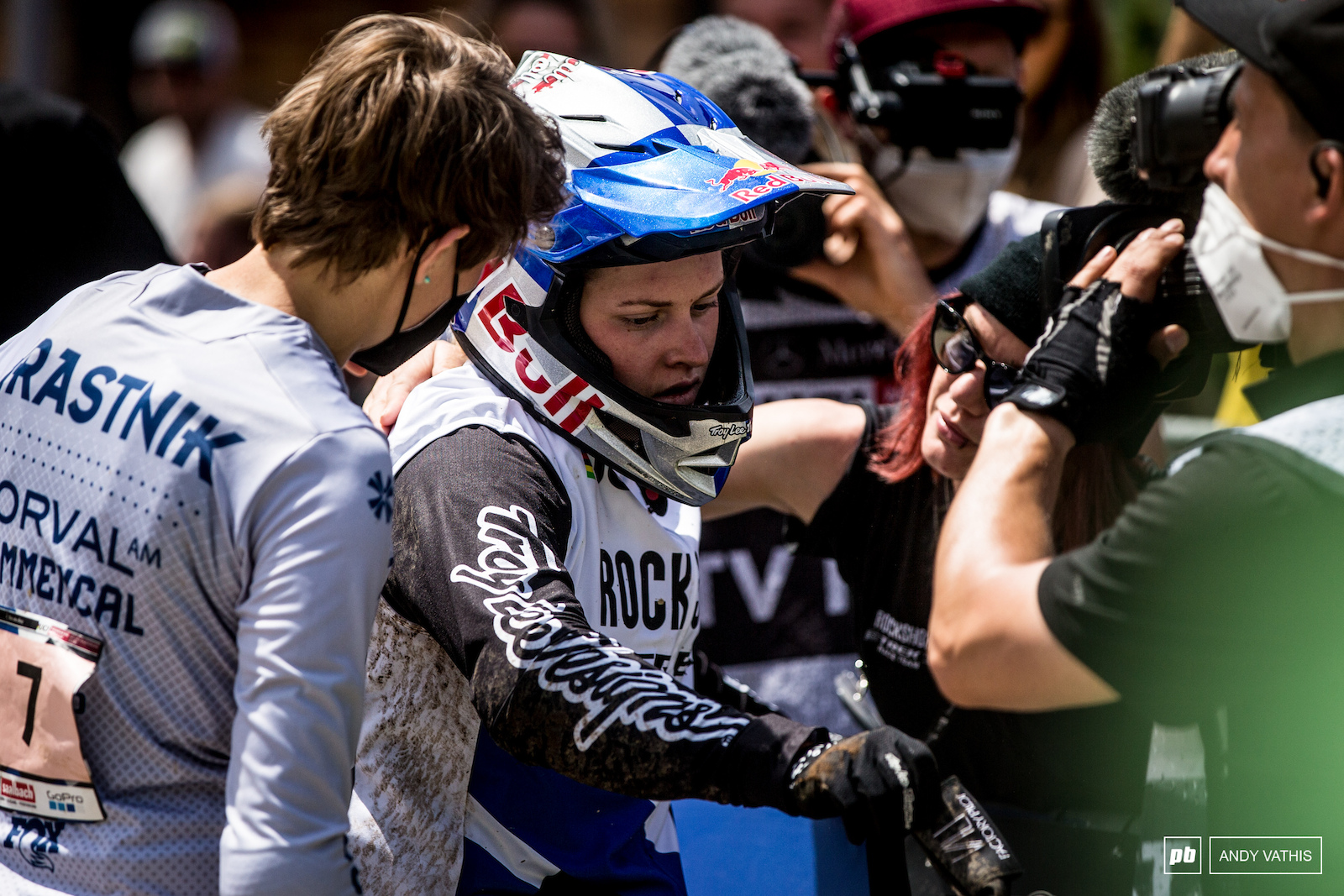 Speechless at the finish Vali s misfortune with her home track continues.