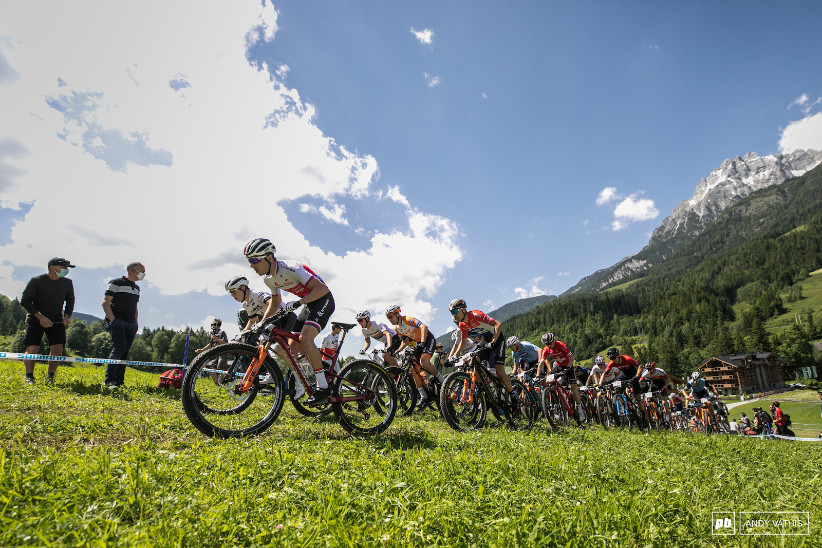 A blistering men s start included three crashes before the start look was over.