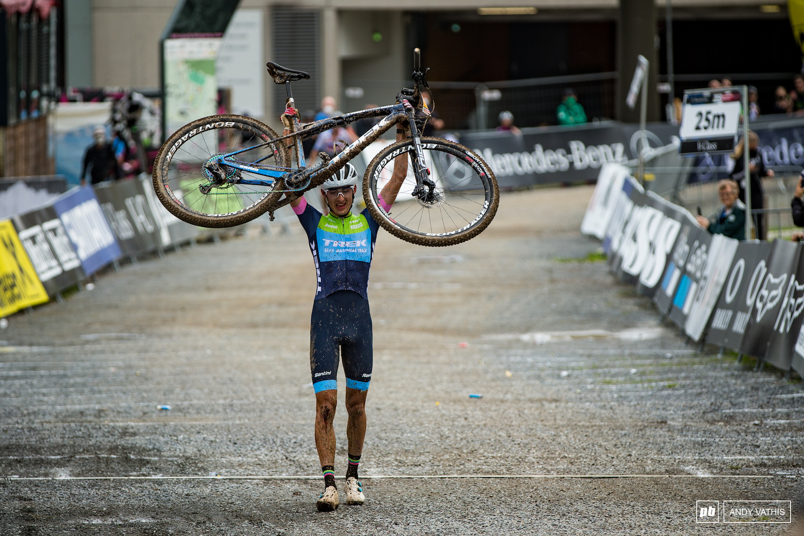 First World Cup win for Riley Amos and he chose one of the hardest tracks to do it on. Well done.