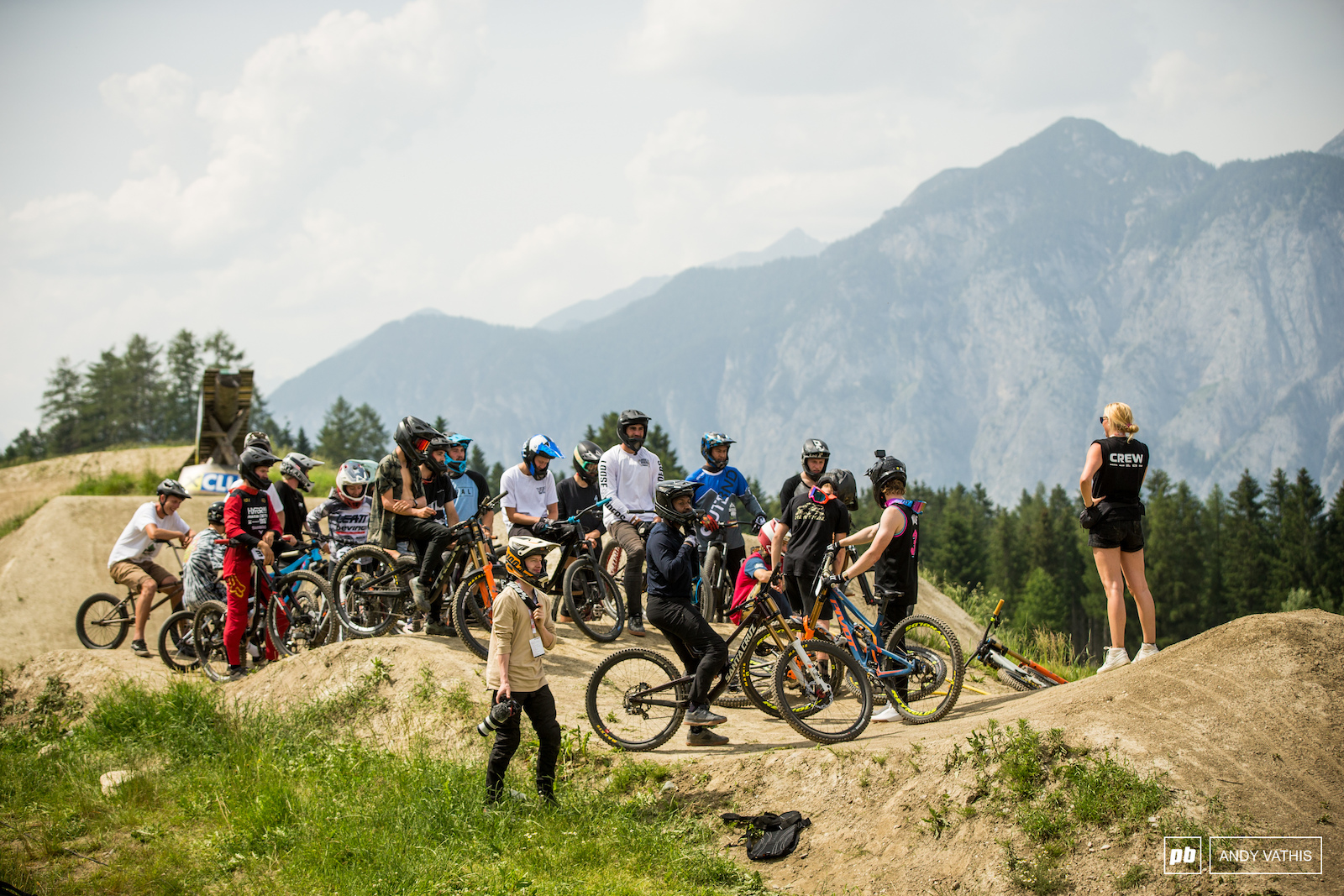 Unofficial European Scrub Offs were a go right after slopestyle.