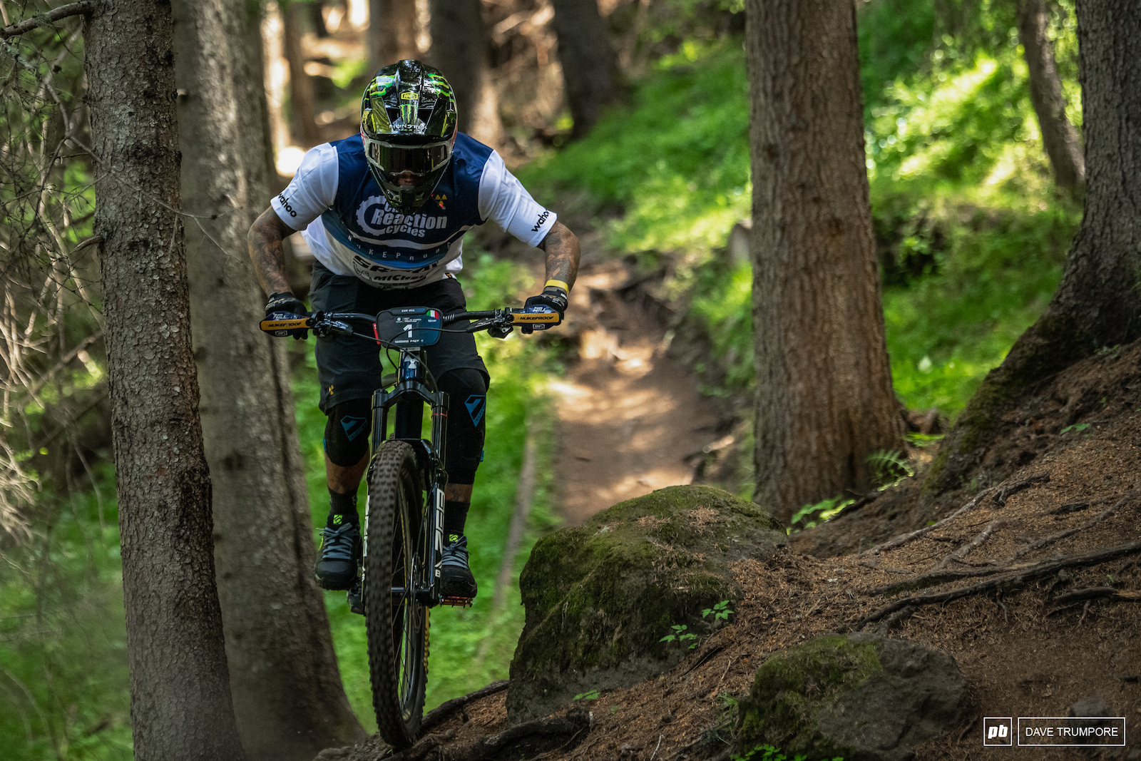 Sam Hill was doing his own thing and practicing stages out of order. Keeping lines a secret and his true speed hidden