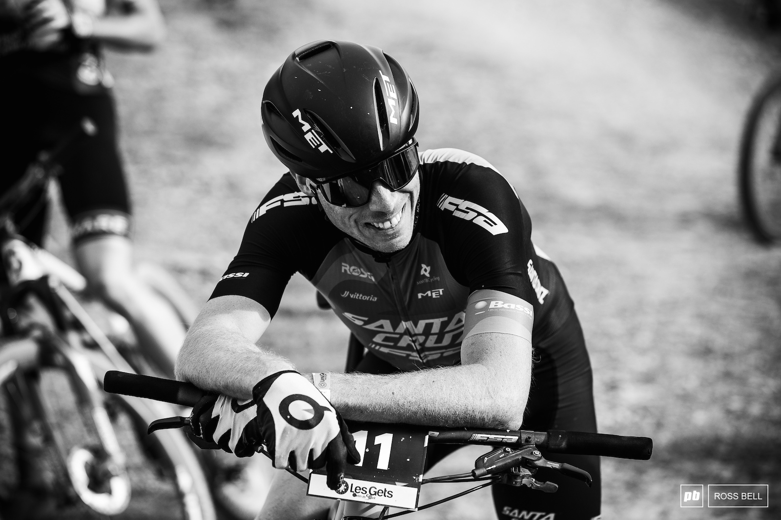 Maxime Marotte smiling through the pain after finishing 8th.
