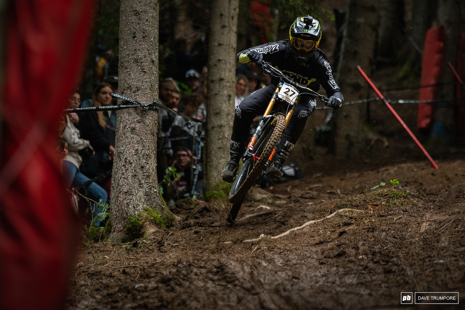 Luca Shaw pushing in the final woods