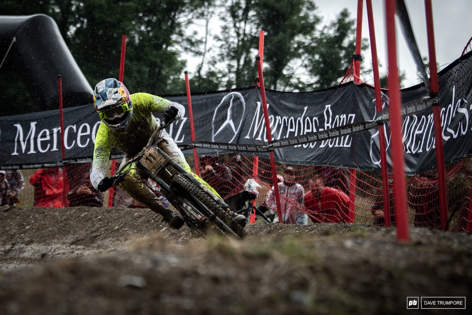 Last man down and the skies had opened up on Loic Bruni