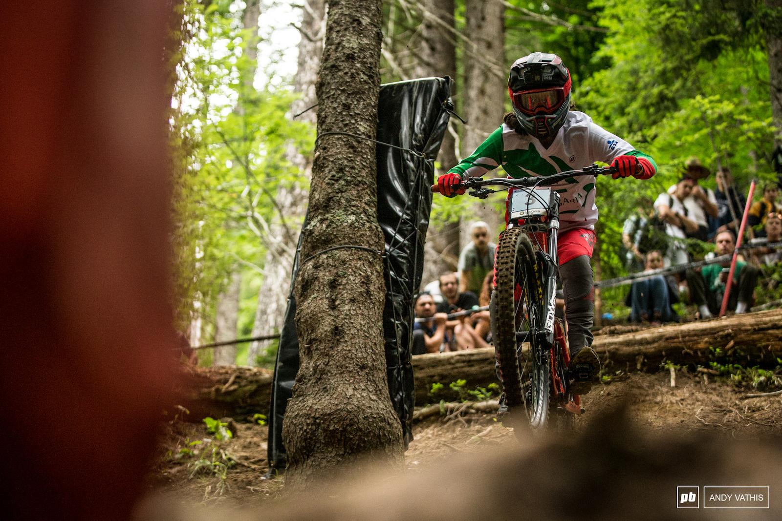 Izabela Yankova rolling into second place.