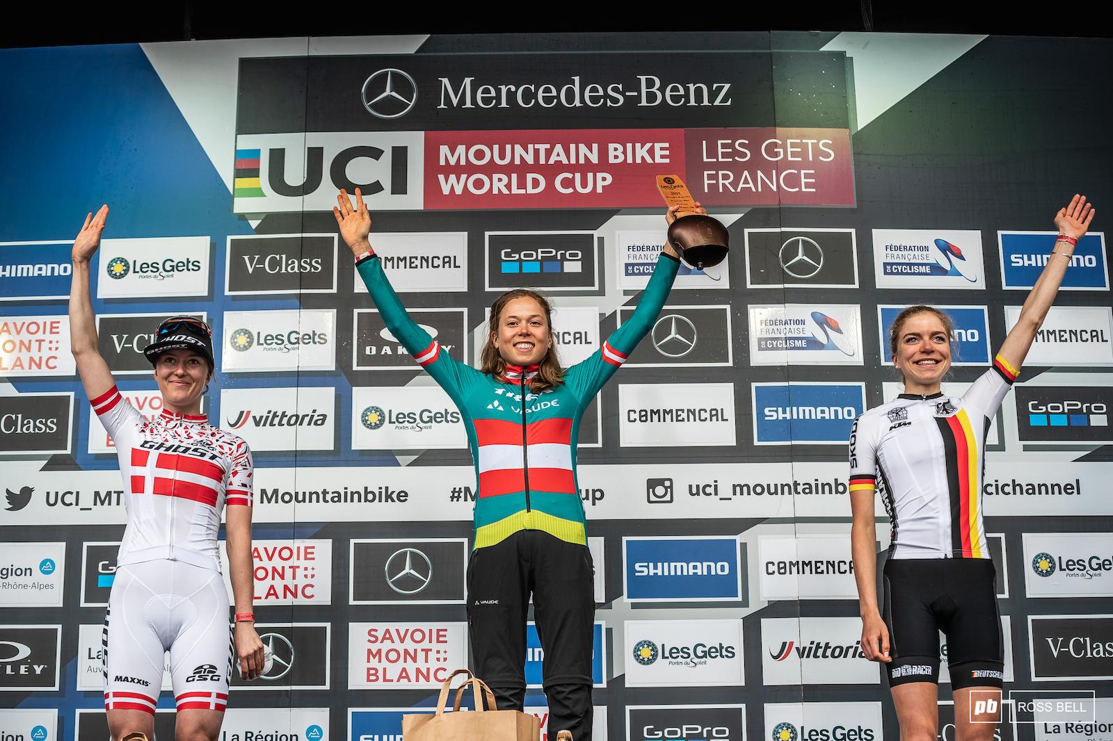 Your top 2 junior women 1st Mona Mitterwallner 2nd Caroline Bohe 3rd Leonie Daubermann.