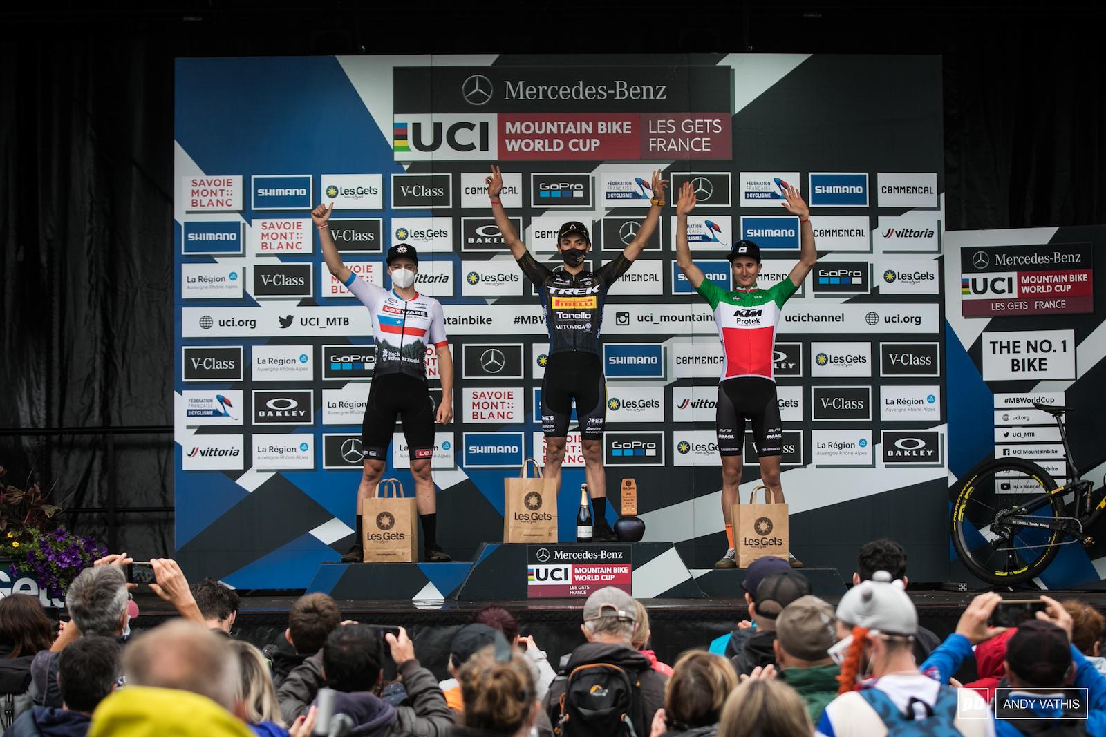 Your U23 men s podium 1st Simone Avondetto 2nd Martin Vidaurre Kossmann and 3rd Juri Zanotti