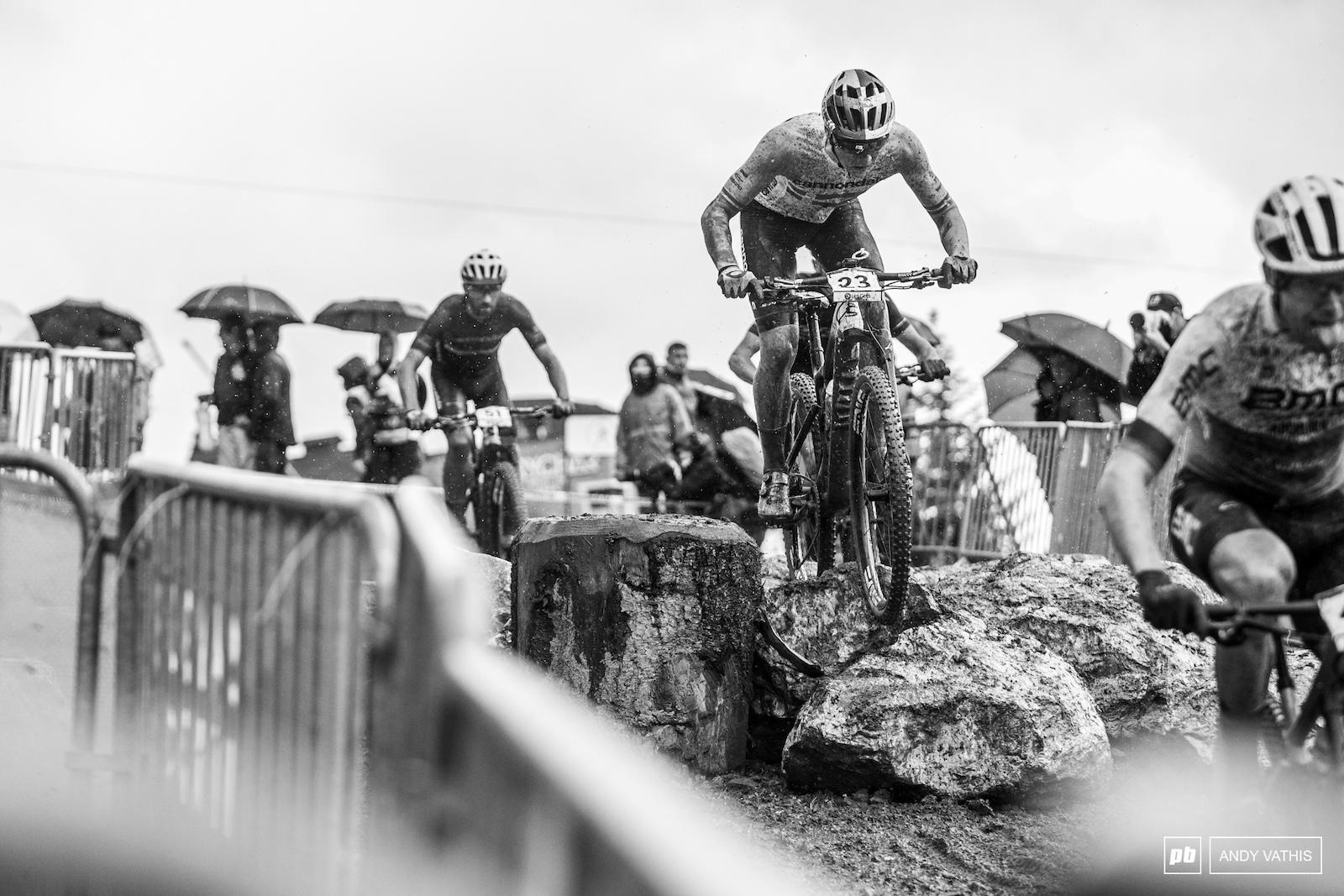 Seventh for Simon Andreassen in the deluge.