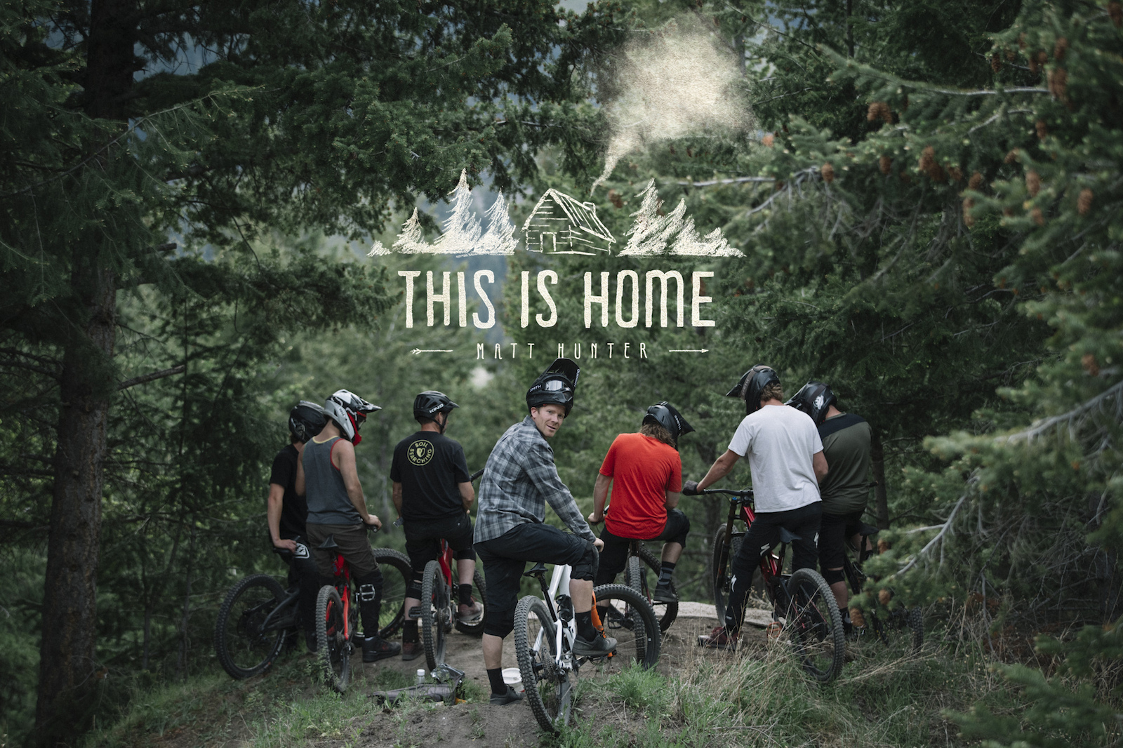 Matt Hunter and friends in Kamloops British Columbia Canada