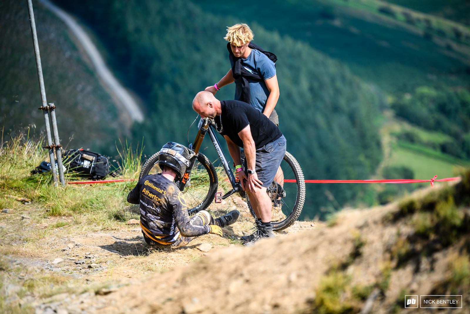 It was a massive crash for Charlie Hatton how ever he was up back on his feet with coasted down the track with the other riders. the Continental Athaton rider is clearly made of strong stuff.