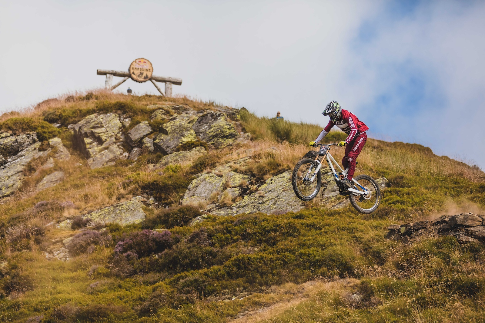 Brendan Fairclough gapping off the top drop.
