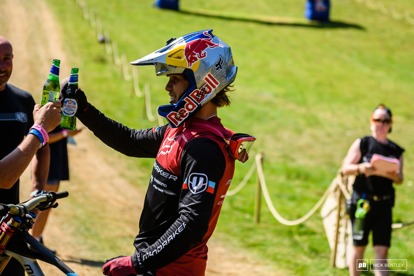 Laurie Greenland finished his run and went straight into the hot seat with his mechanic supplying him with a fresh cold beer at the first opportunity.