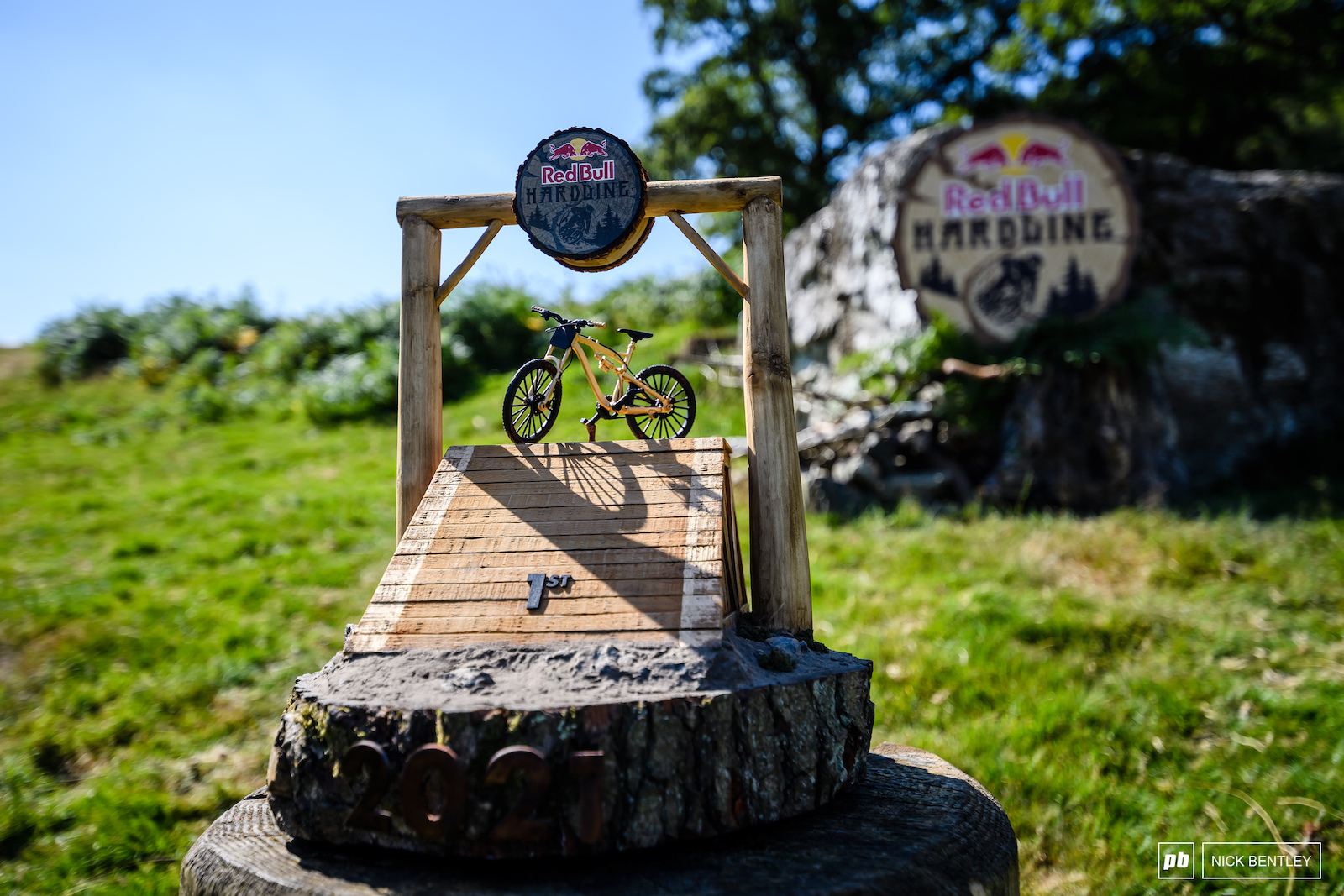 Not your average trophy for not your average mountain bike race.