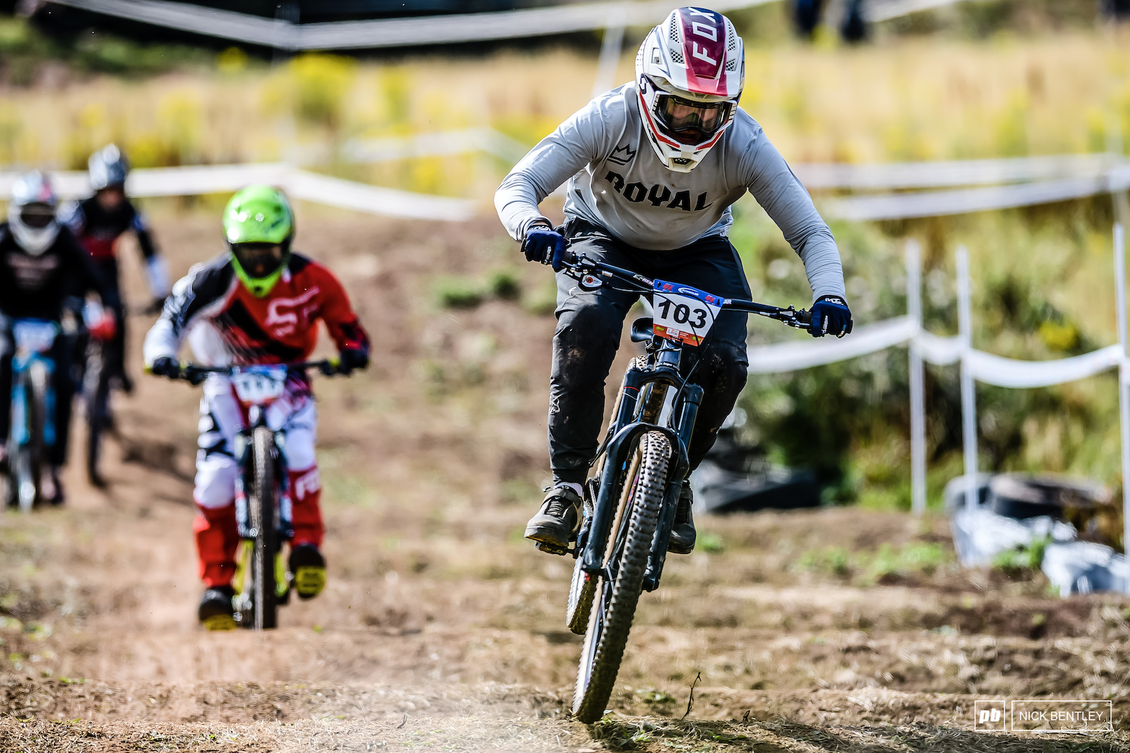 Daniel Biggs on the gas through the whoops to take the win in the 17-18 men s B Final.