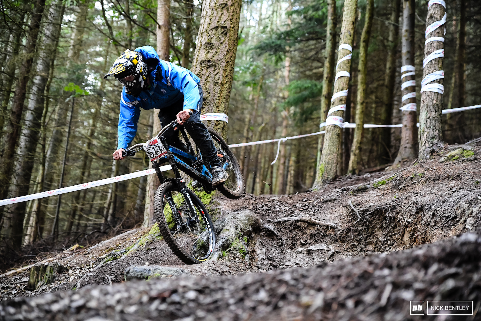 Ben Ballantyne taking the inside line on one of the more open sections of the track.