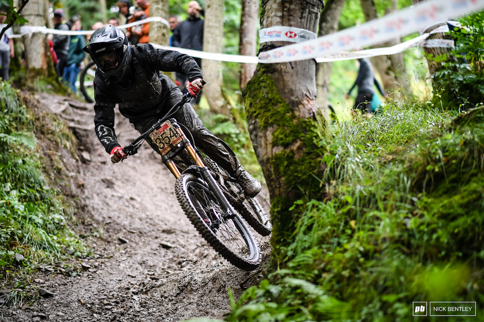 Oakley Haines carving through the mud.