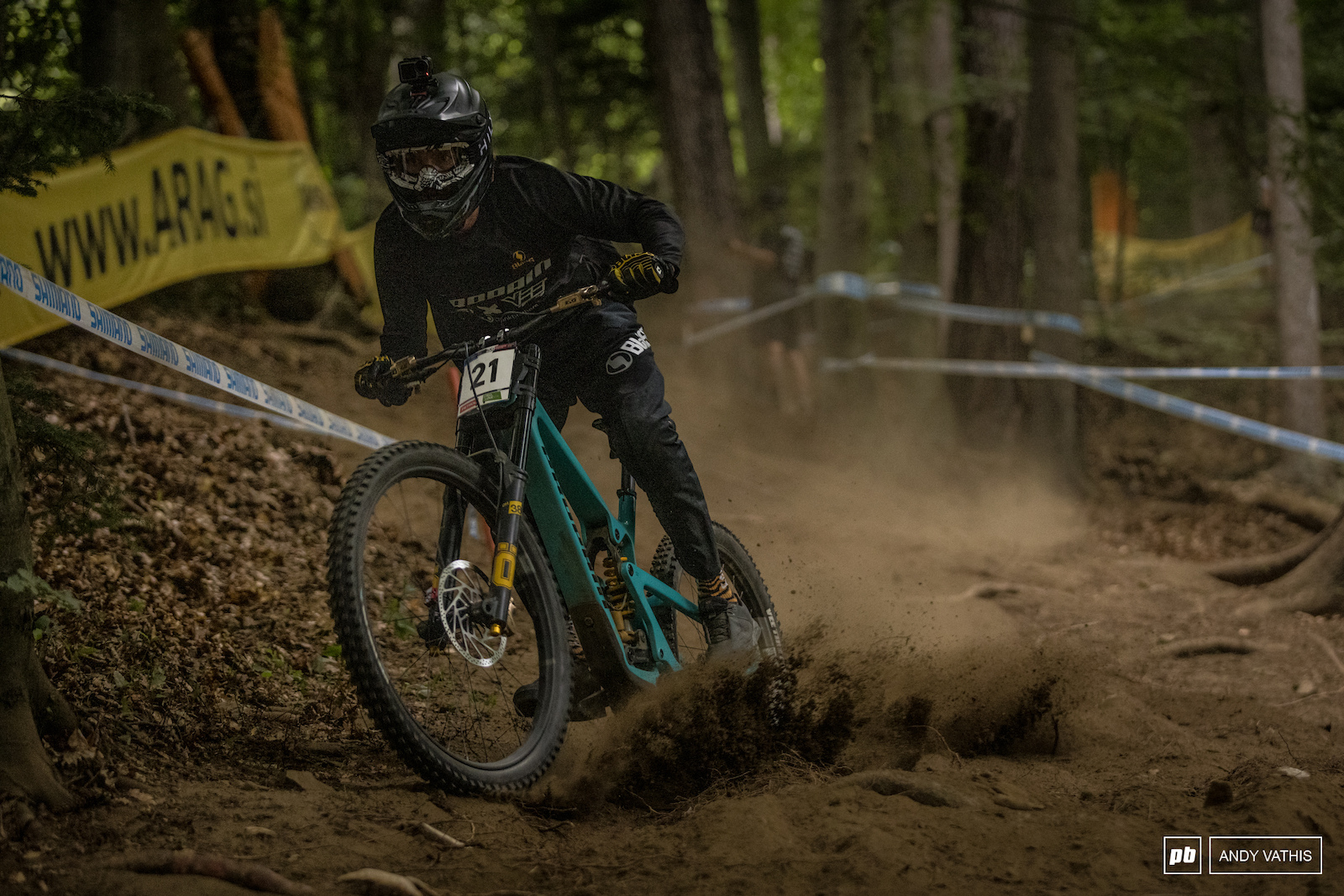 Phil Atwill fighting to stay above the loose dirt.