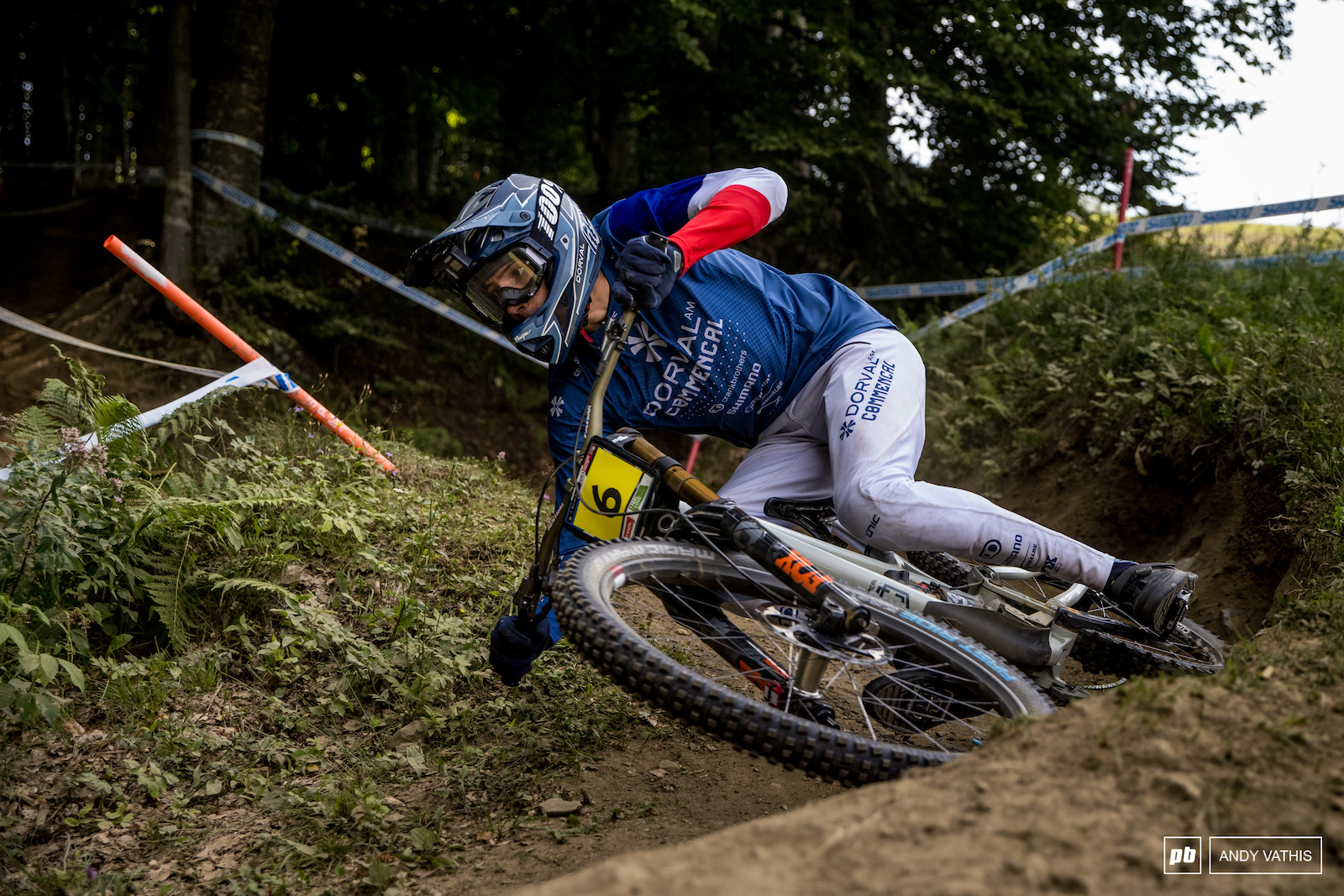 Benoit Coulanges was an animal on dusty bombed out track today.