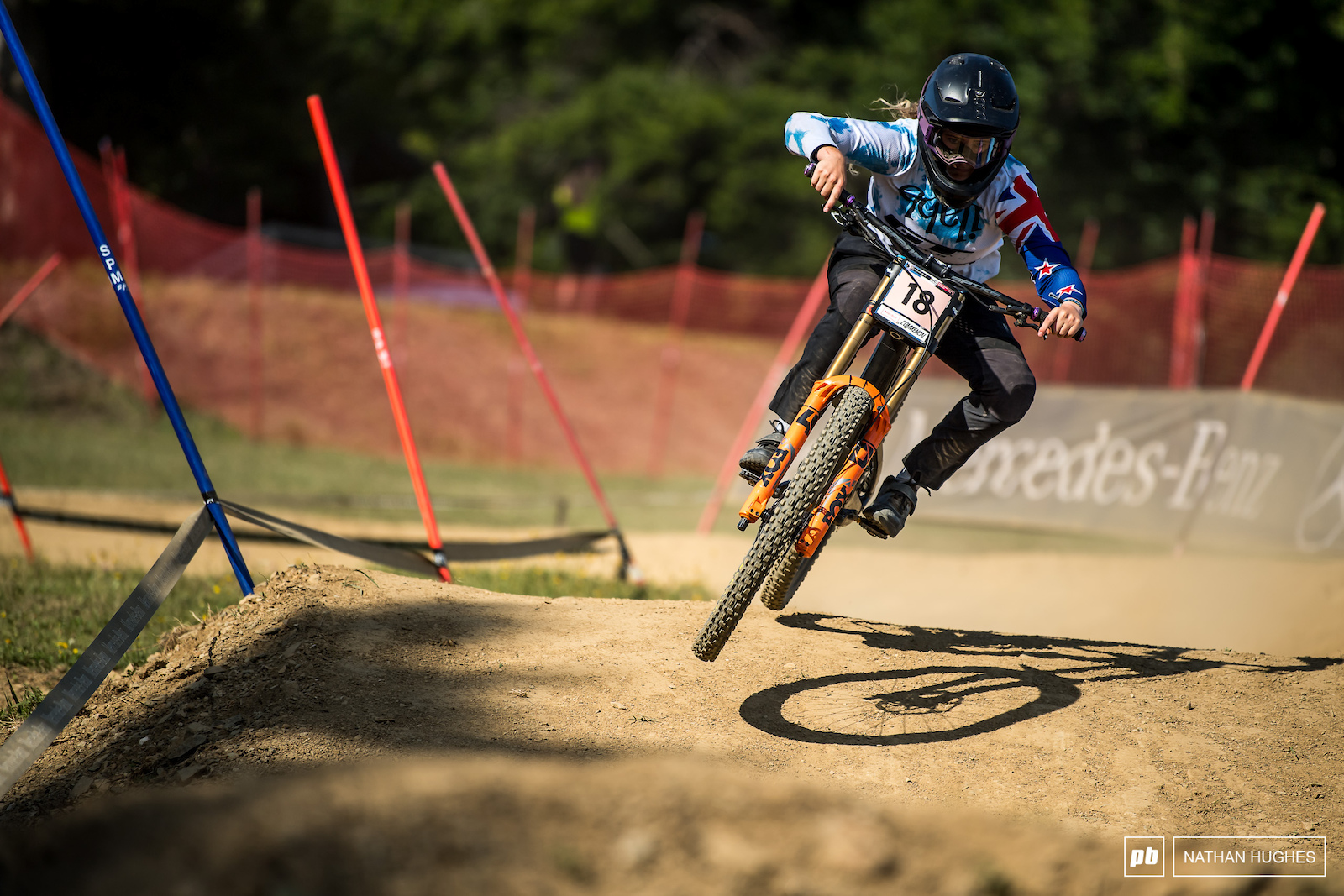 Kiwi national champ Jess Blewitt firing on all cylinders riding to 7th place.