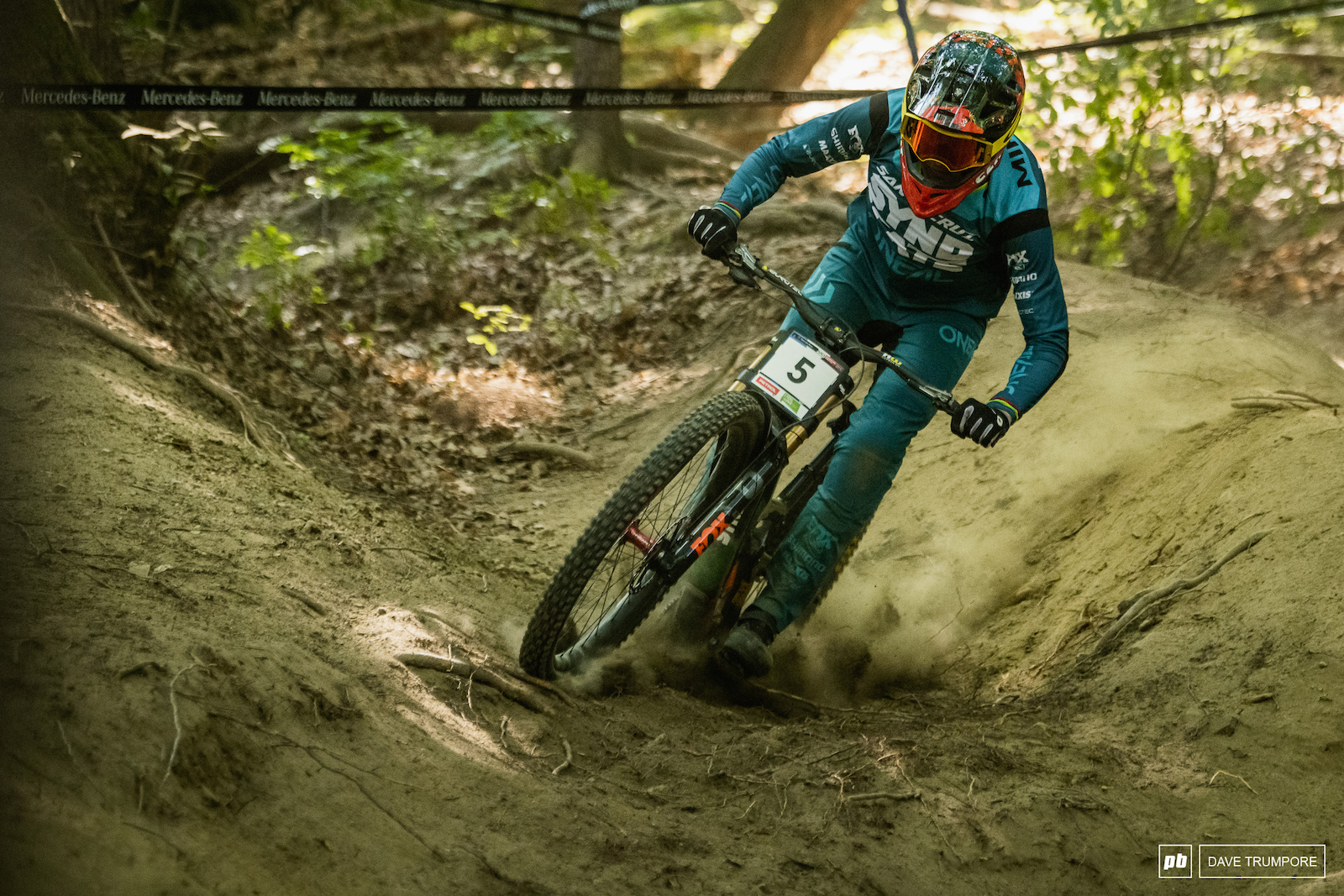 Greg Minnaar mixing it up with the youngsters and finishing the day 4th