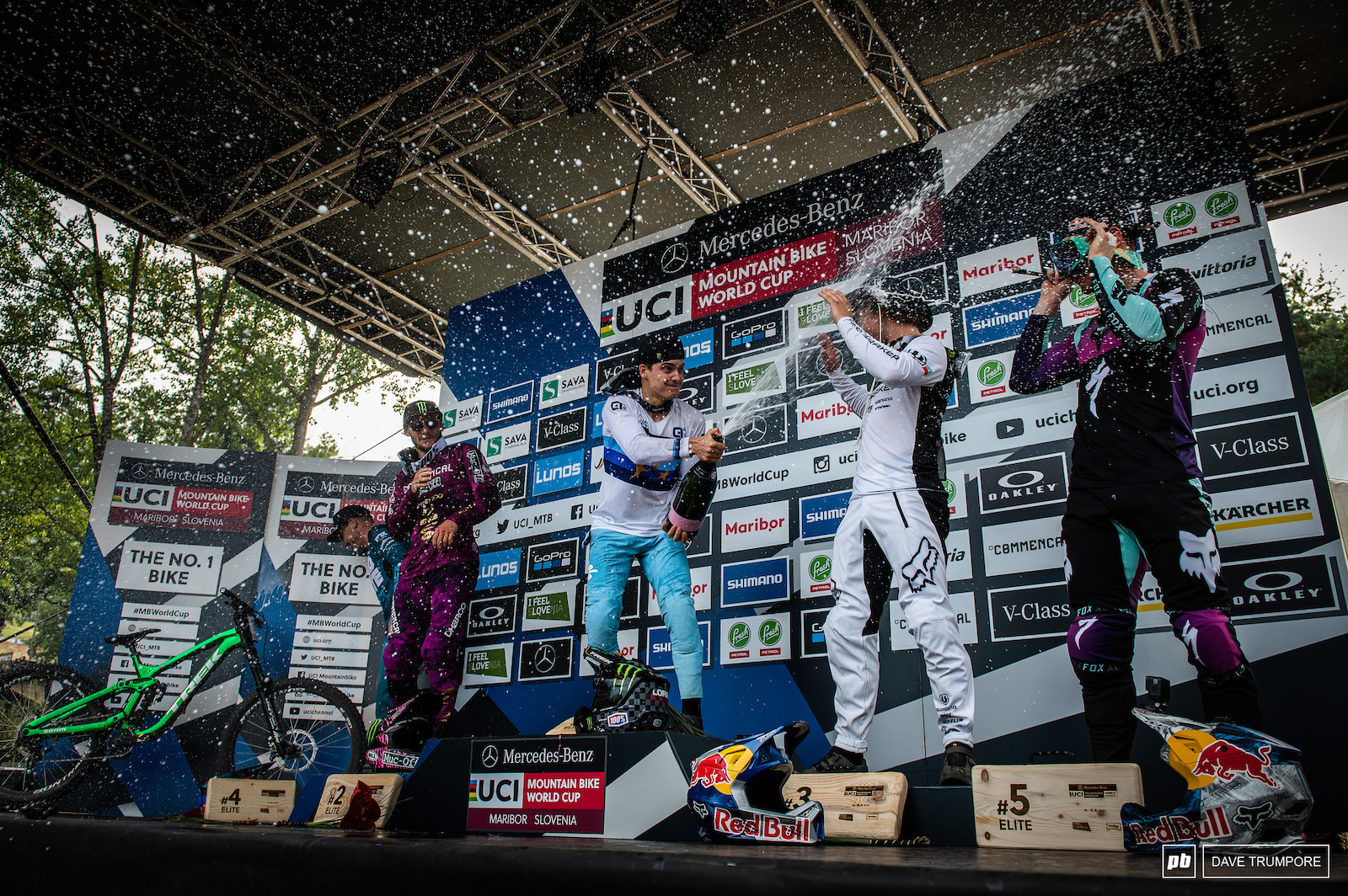 It only rained champagne for once at a World Cup