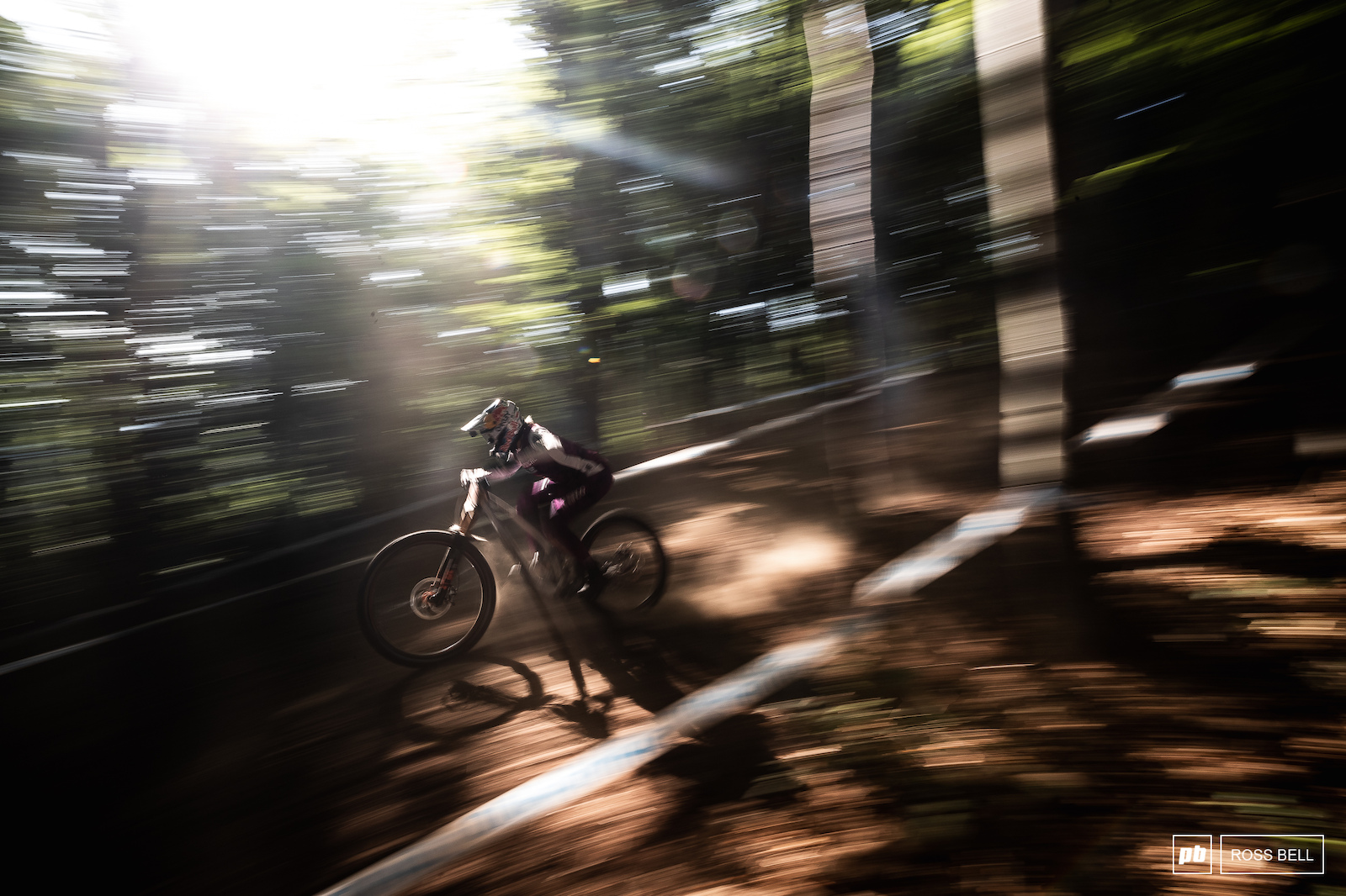 Myriam Nicole blasts through the upper woods in the early morning practice.