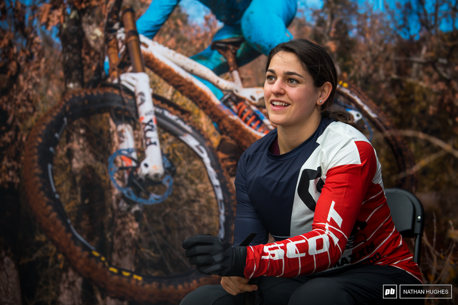 Marine Cabirou continues her road to recovery after her huge crash on the Les Gets road-gap.