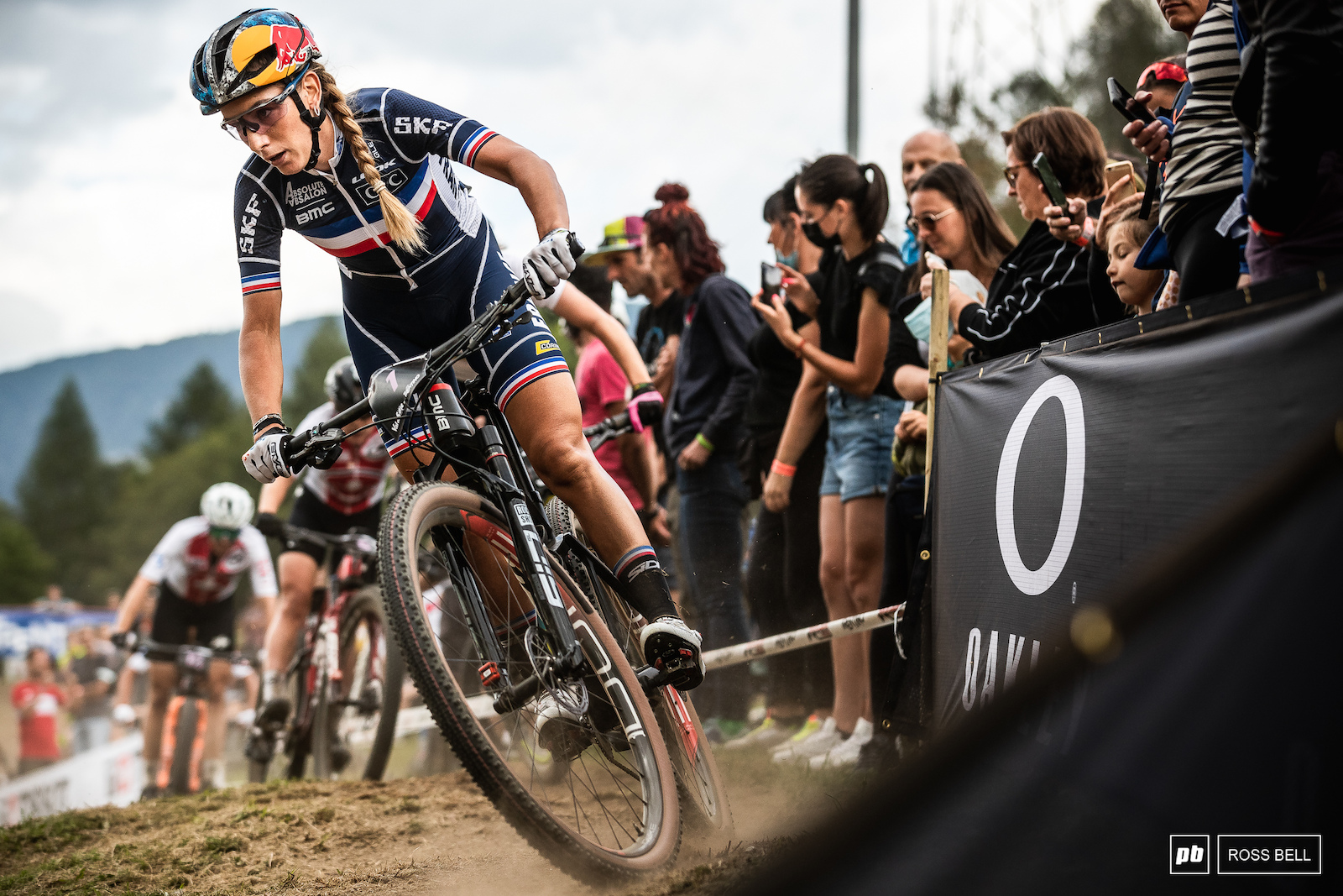 Pauline Ferrand Prevot was a permanent fixture at the front of the field today.