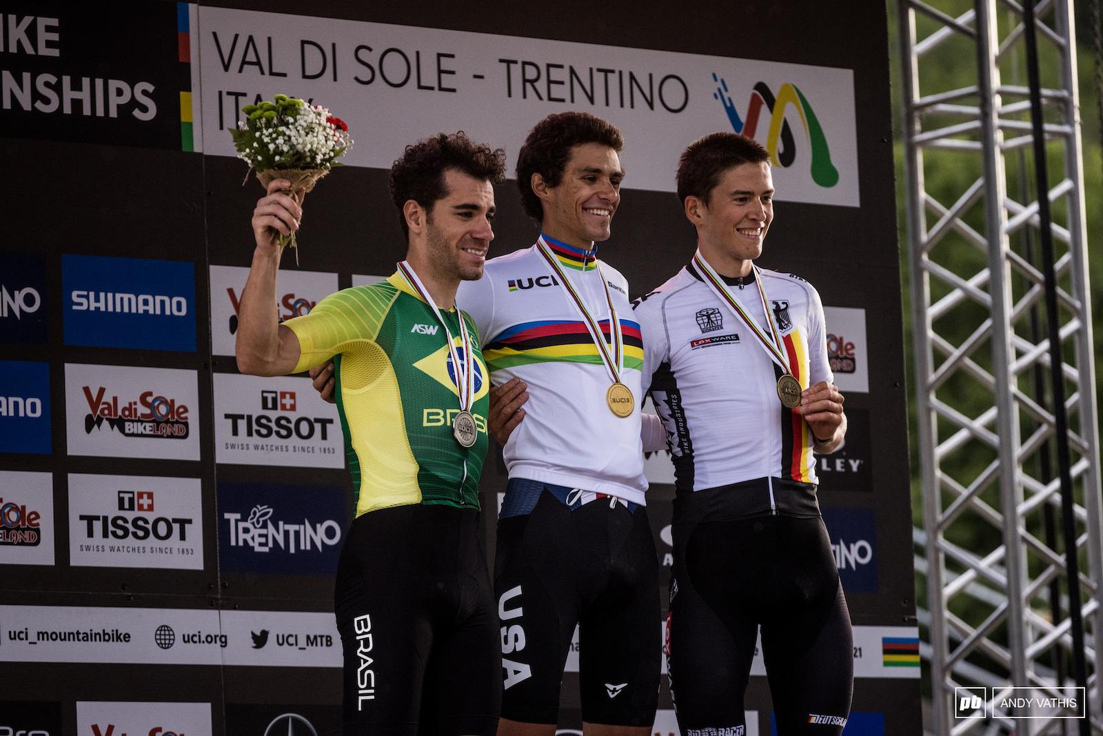 Your top 3 Men Elite - 1st Christopher Blevins 2nd Henrique Avancini 3rd Max Brandl