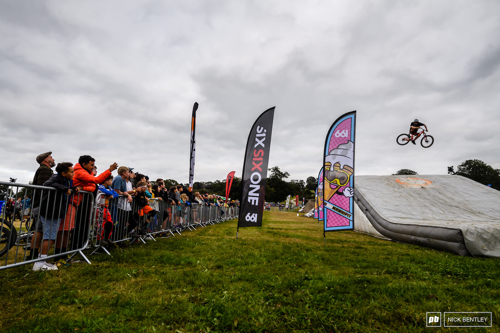 Kids were keen to see just how sideways the riders could get