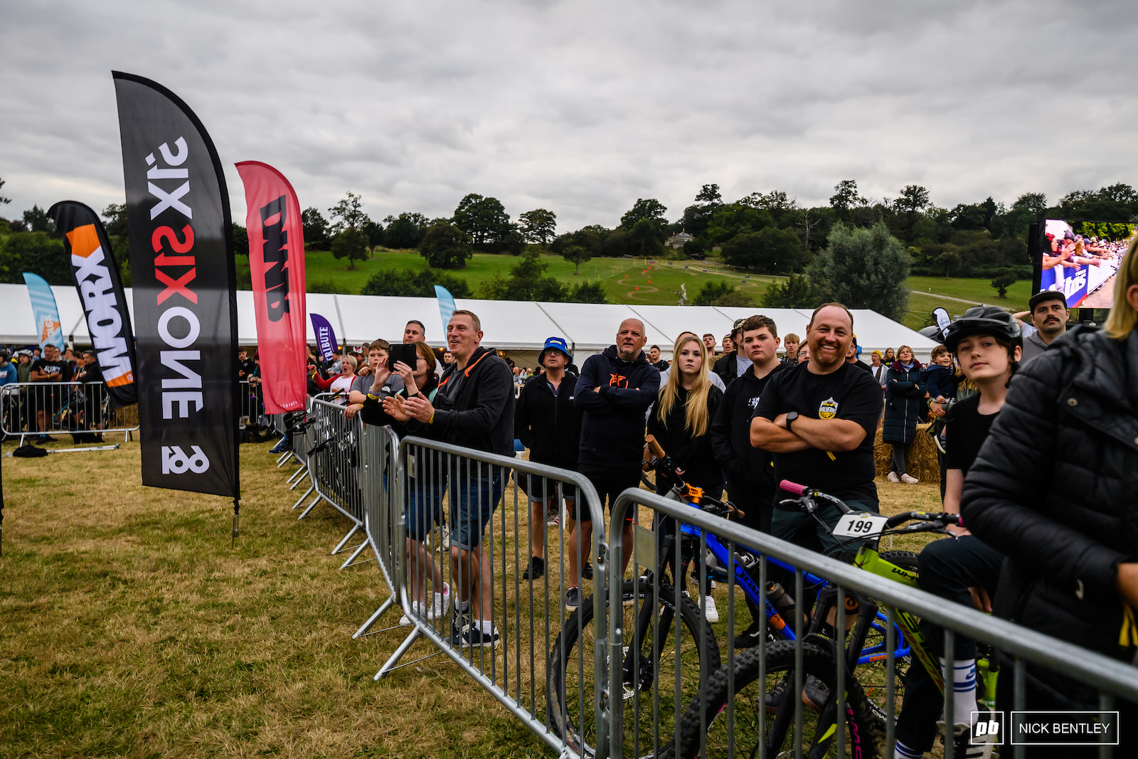 With the event timed to coincide with the end of all of the days racing the crowd started to build