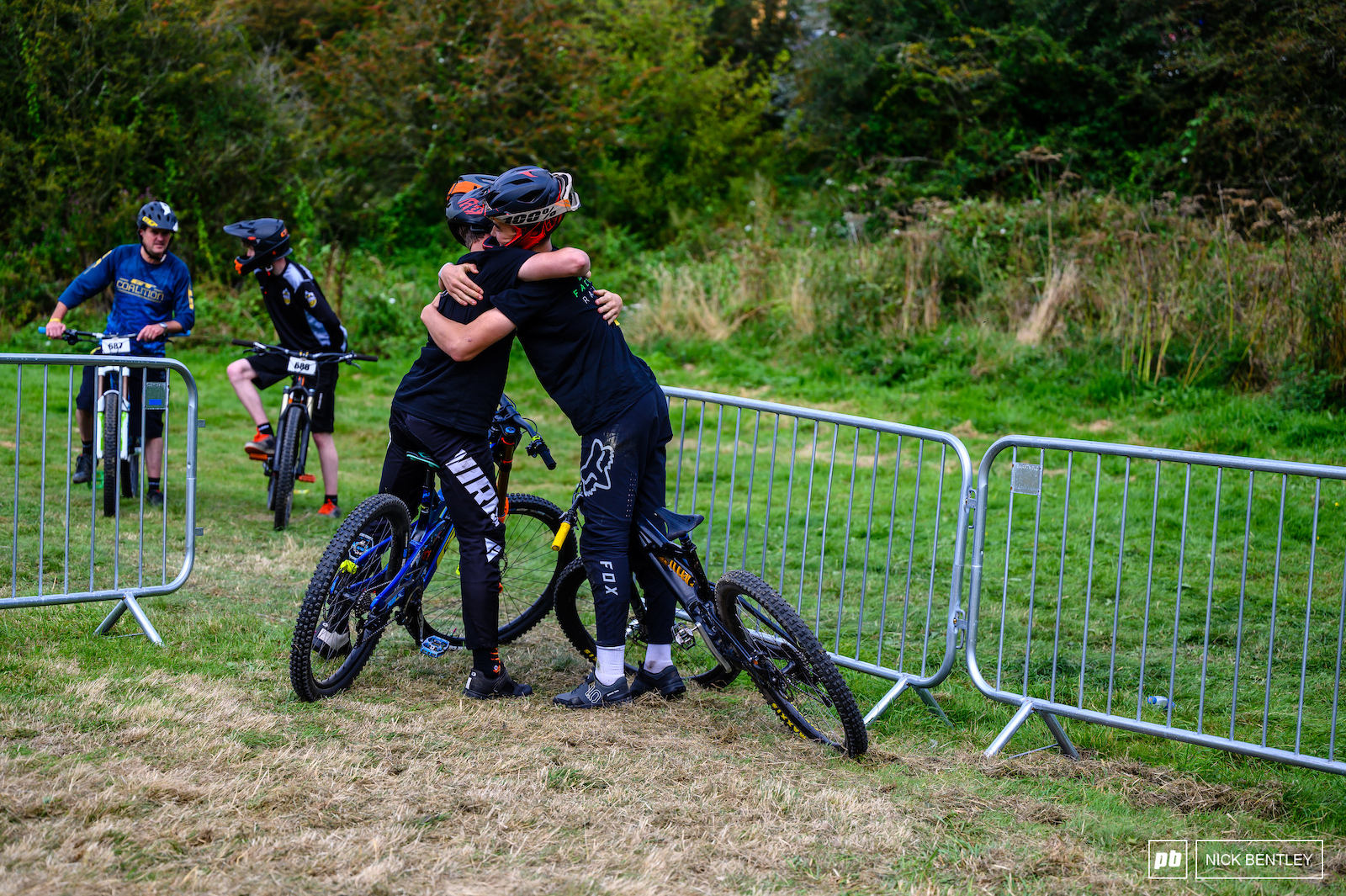 Riders were competitors up until the finish line and friends after