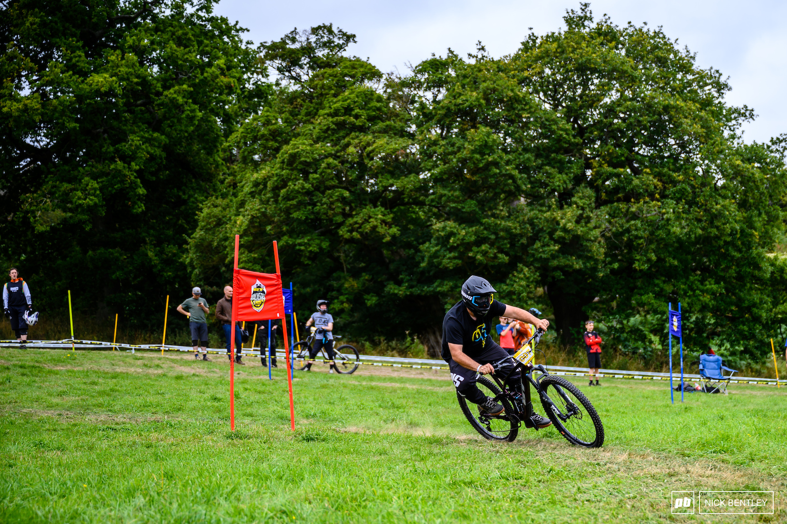 Viris owner Andy Ward turning his hand to some slalom racing
