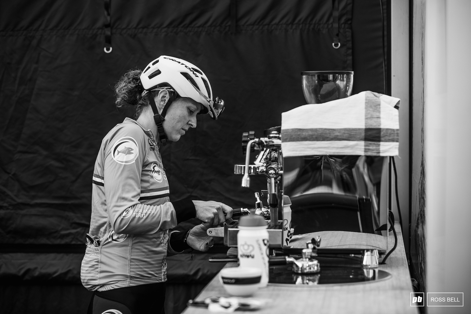 An early morning caffeine hit for Anne Terpstra.