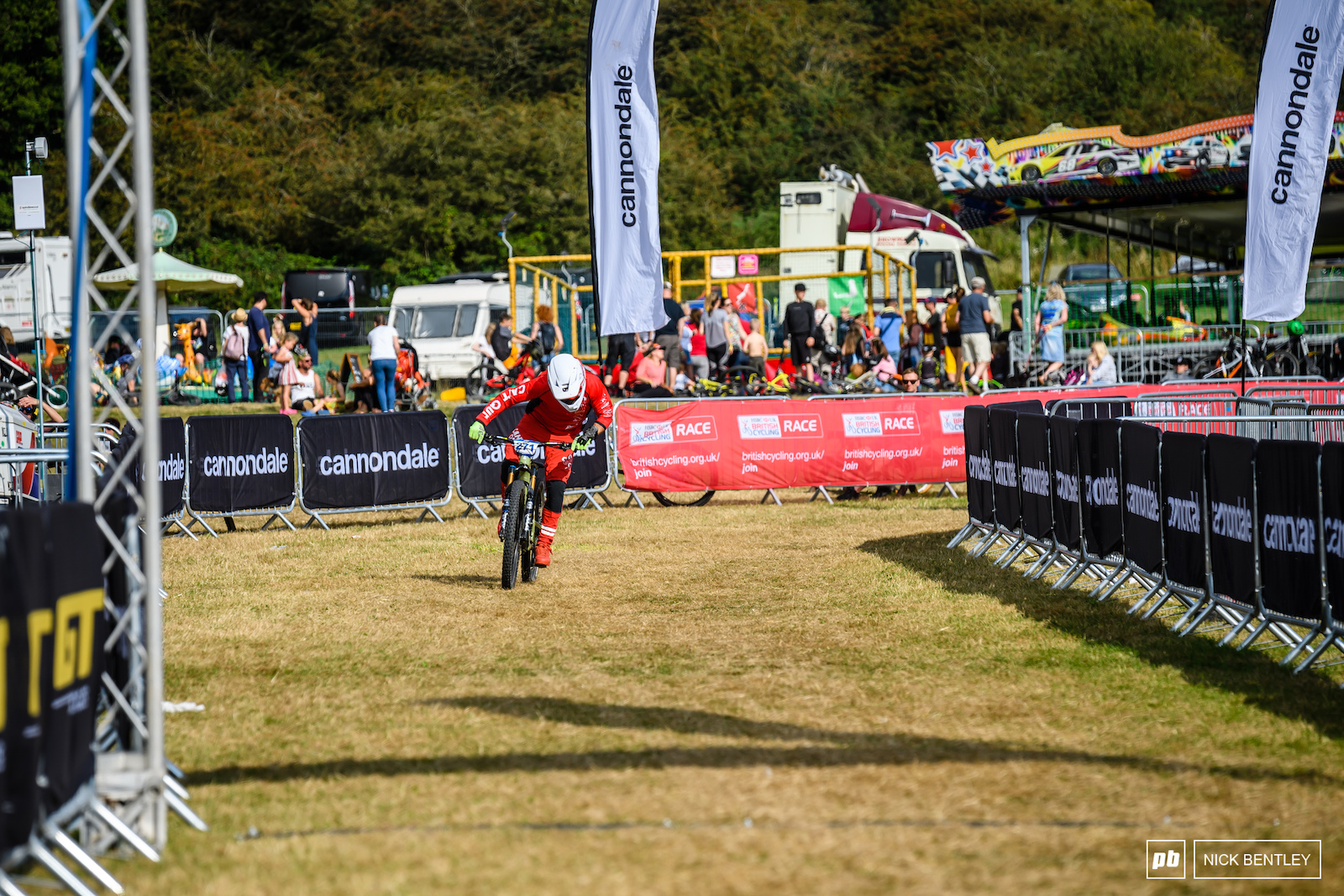 Stu Hughes powering his way to the win in the Vets field