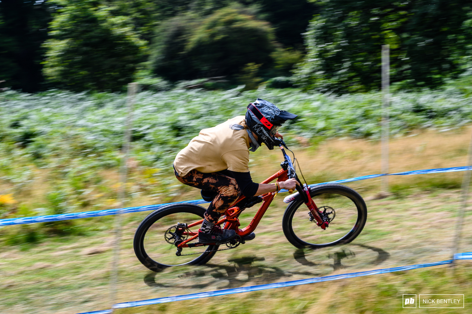 The upper section of the track was flat out and open leading to some highspeed high risk riding from the quick riders