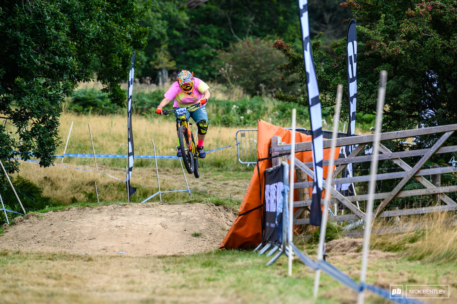 Courtney Abbiss pressing send on her race run