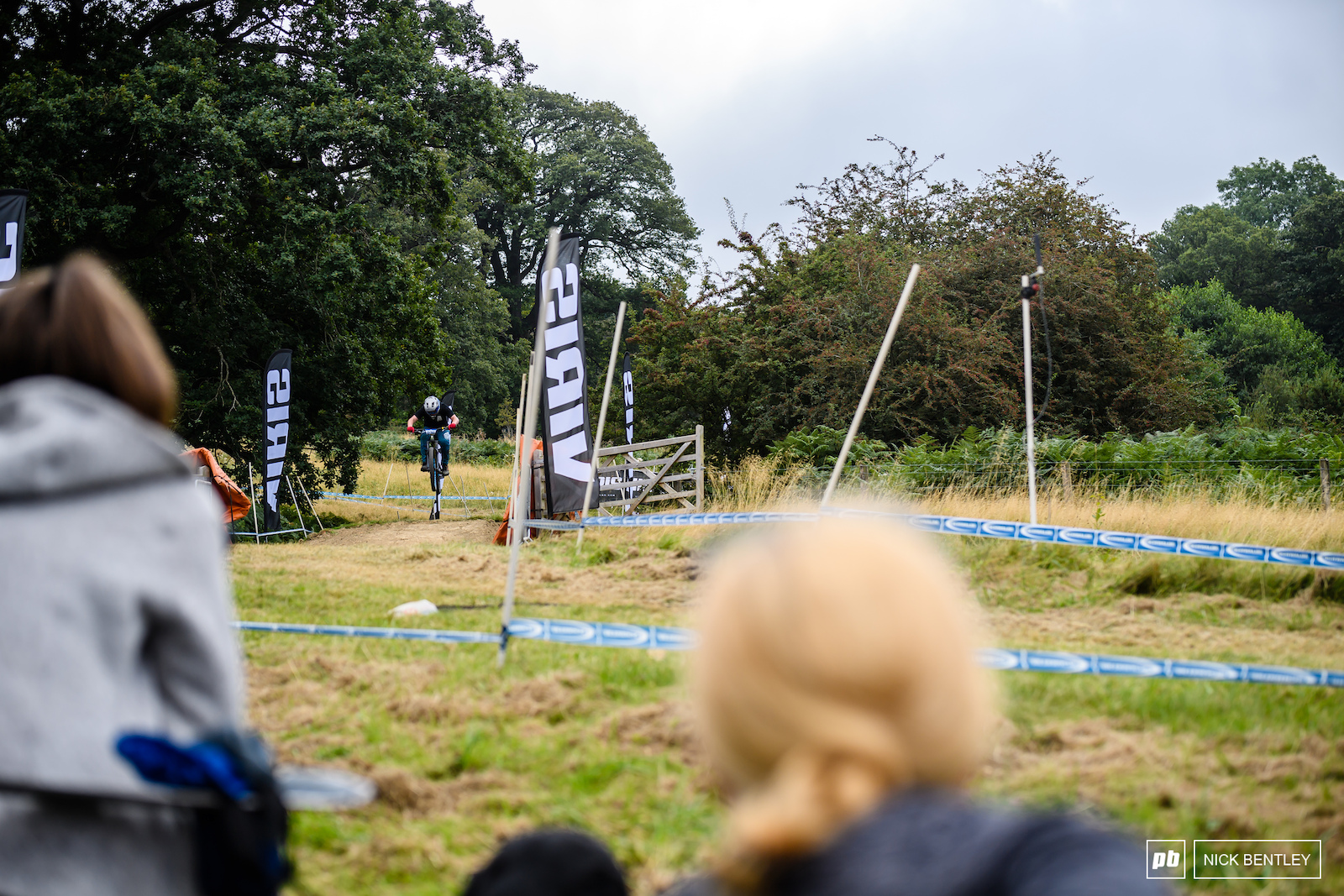 The Viris Bomb-Hole jump is a Malvern s legend all in it s own right and most of the crowd gathered at this point on the classic DH Track