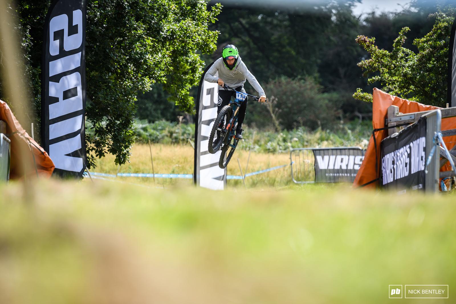 Daniel Gibbons enjoying some air time