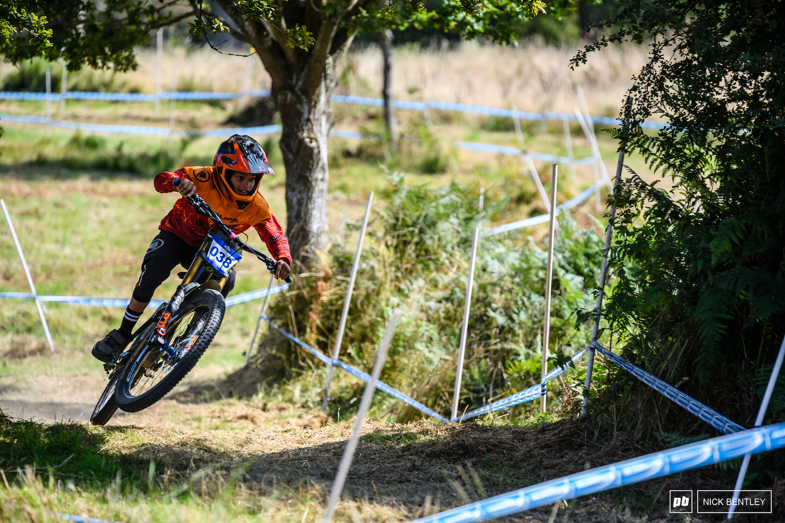 Nathan De Vaux popping his way through the trees