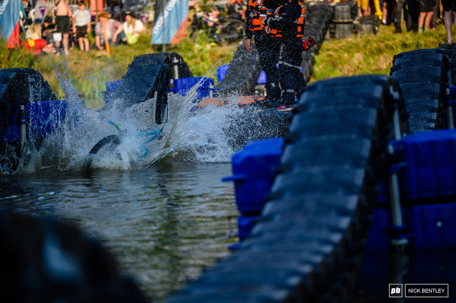 The competition for the biggest splash was as tightly fought as the Lake Ride Race itself