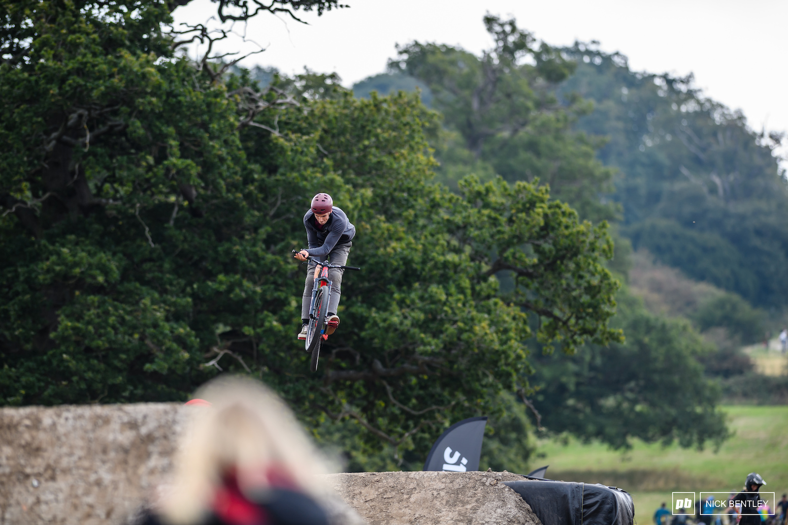 Riders starting through combinations with a suicide no hander to bar spin