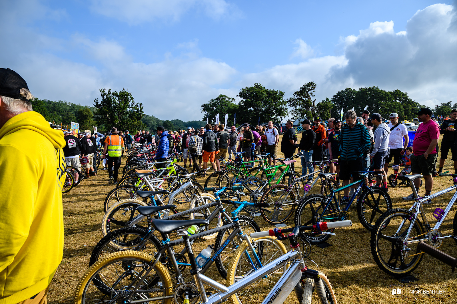 All these amazing retro bikes drew a big crowd even though it was early after a big night at the Malverns Classic