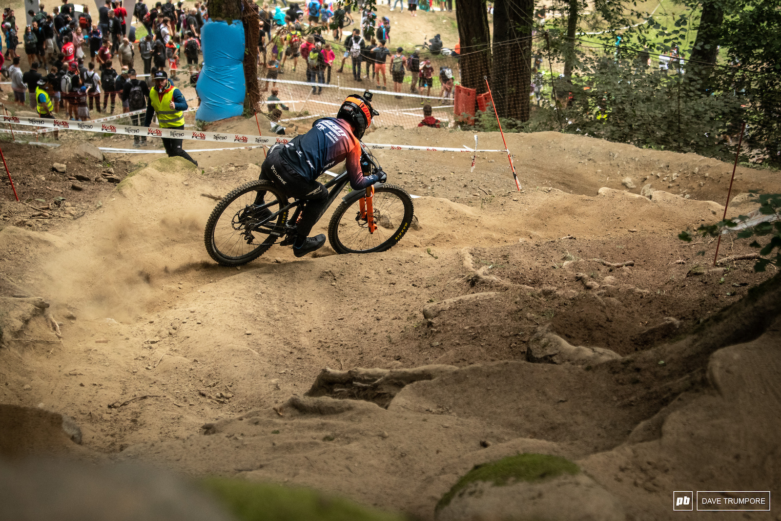 The overnight rain did very little to help the blown out track as riders struggled for grip in the loose dirt