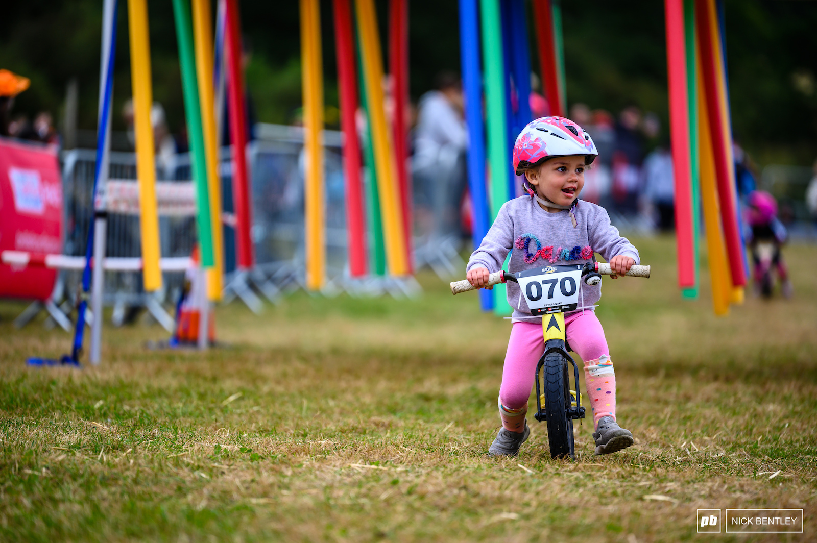 After surviving the Noodle Forest this rider was focussed on the final twist and turns to the finish line